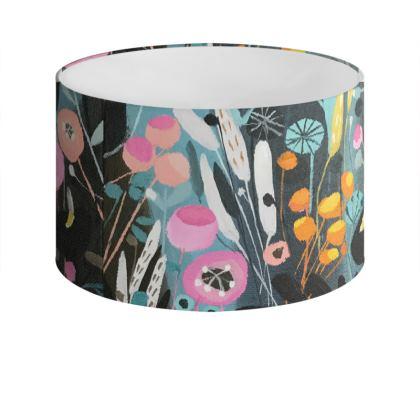 Wild Flowers Drum Lamp Shade