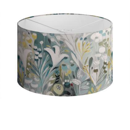 Drum Lamp Shade in Winter Greys design by Natalie Rymer