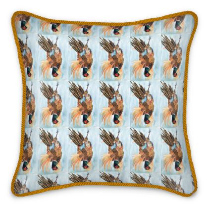 Phil the Pheasant Silk Cushion