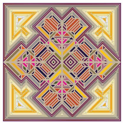"""""""Guilded Geomancy"""" Luxury Velvet Cushion"""