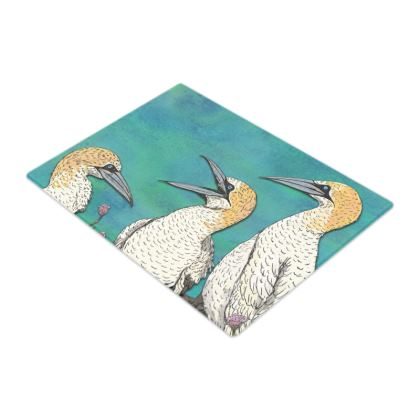 Gannets Glass Chopping Board
