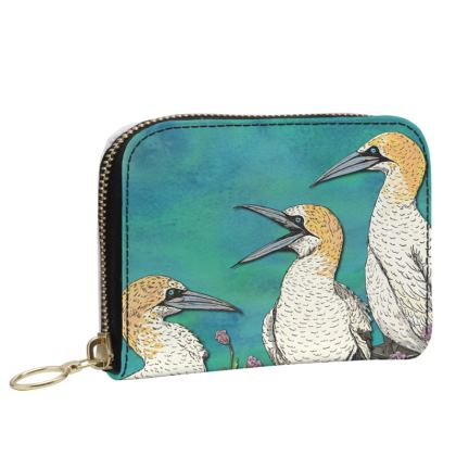 Gannets Small Leather Zip Purse