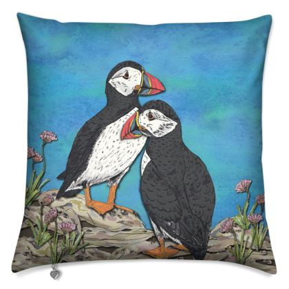 Puffins Cushion