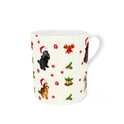 Bone China Christmas doodle Mug