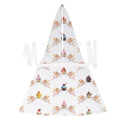 Debbie Wingham Exclusive Apron with Angel Cake Print in White