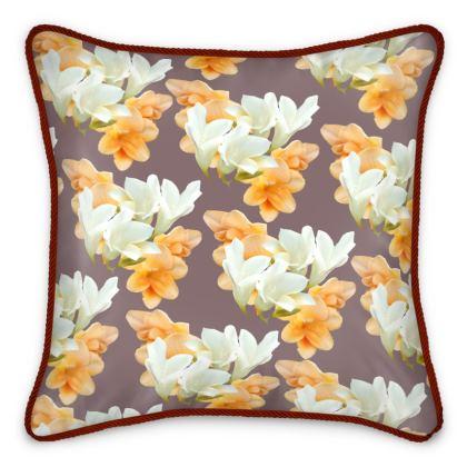 Freesia Silk Cushion