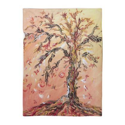 Flowing Tree Fleece Blanket