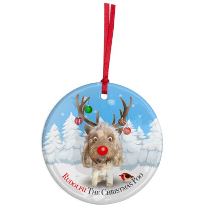 Christmas Ornaments cream poo