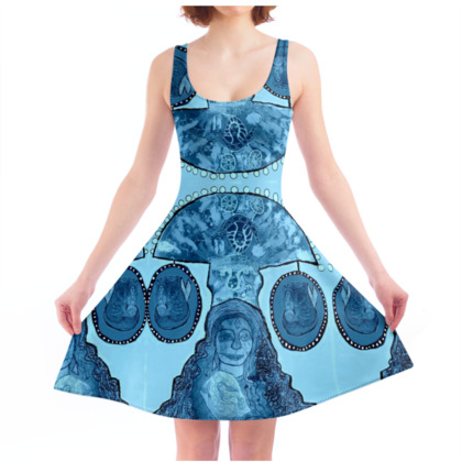 Blue Moon - Skater Dress
