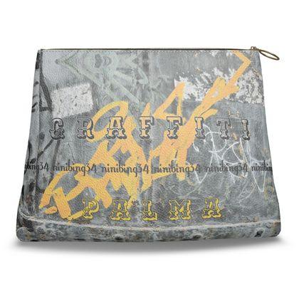 Clutch-Tasche Nappaleder ninibing34's KROKODIL blue aus Südafrika
