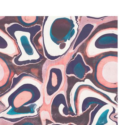 Travel Wallet - Pink liquid marble