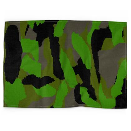 Camouflage Design Tea Towels