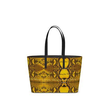 Nappaleder Bag aus Leder small, yellow SCHLANGE DESIGN von  #ninibing34
