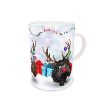 Rudolph the Christmas DOODLE Bone China Mug