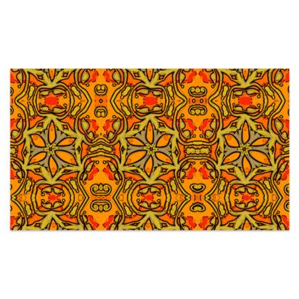 "Funky Orange, Yellow Red Star - Sarong #2 - Plus Long - 76'x44"" (193cmx110cm)"