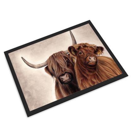 Heilan Coos Highland Cattle Door Mat