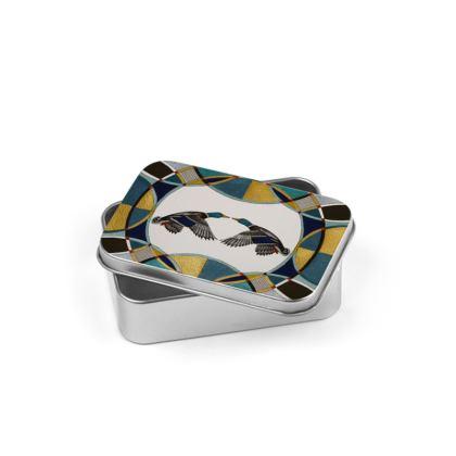 Mallard Design Silver Tin