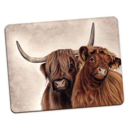 Heilan Coo Highland cattle Placemats