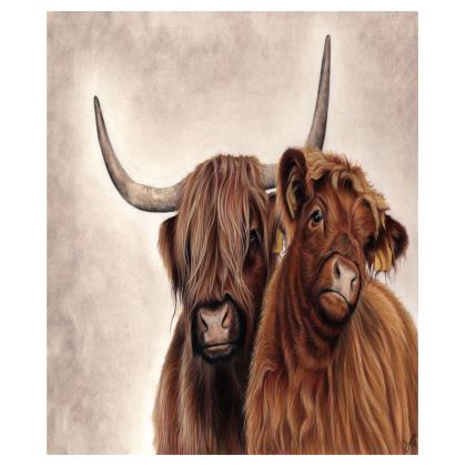 Heilan Coos - Large Highland Cattle Lap Tray