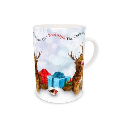 Red poo Bone China Mug
