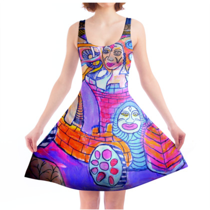Enigmatic Town - Skater Dress