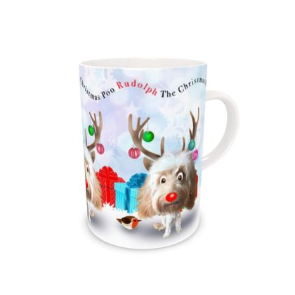 Cream poo Bone China Mug
