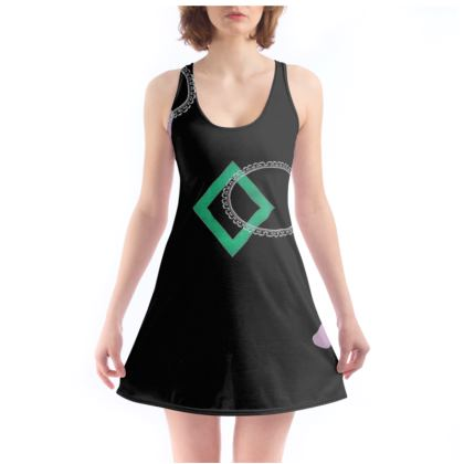 Music Note Design Beach Dress US and National ©