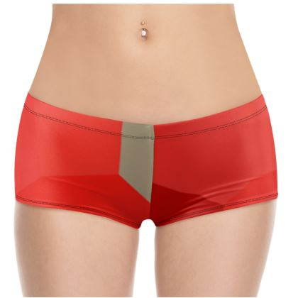 Beautiful Shades of Red Survivor 1 Hot Pants © US and National