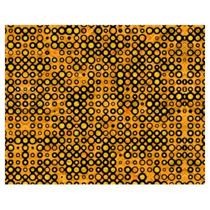 Yellow, Orange and Black Funky Spots - Kimono/Robe