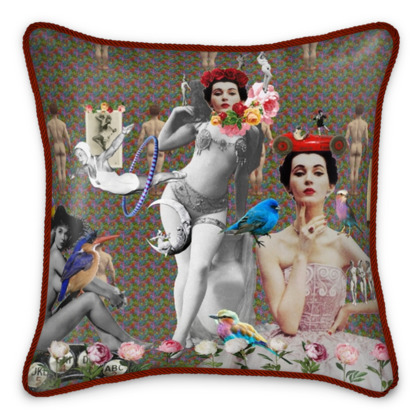 The Twins Silk Cushion