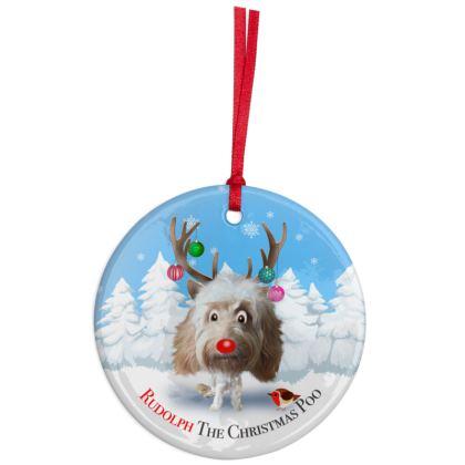 Cream poo Christmas Ornaments