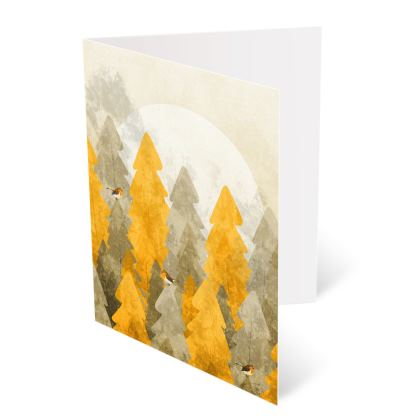 Occasions Cards - The robins and the gold forest