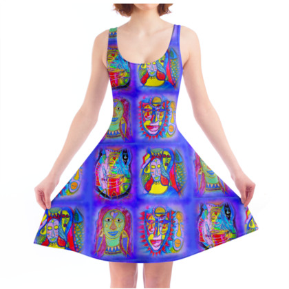 Water Element - Skater Dress