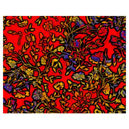 Rich Red, Yellow and Blue floral Espadrilles