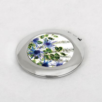 Holly Bouquet Compact Mirror