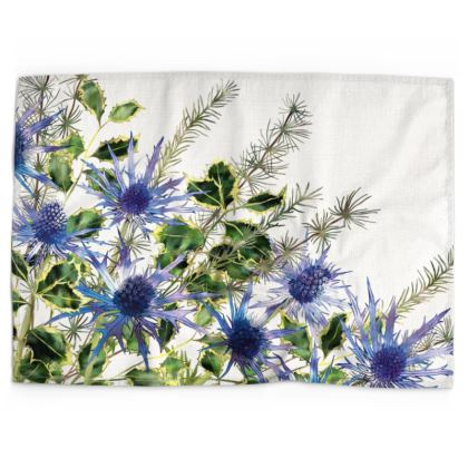 Holly Bouquet Tea Towel