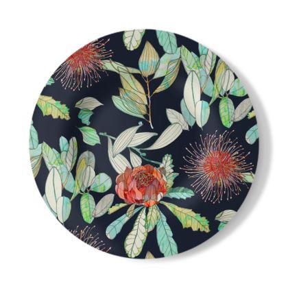 Waratah Flower Decorative Plate