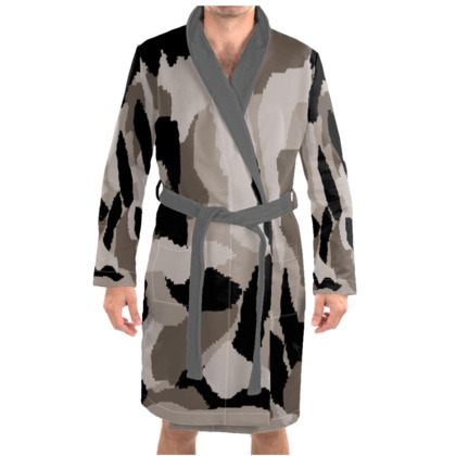 Camouflage Pattern Dressing Gown