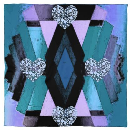 Heart and Diamond Design Scarf Wrap or Shawl ©