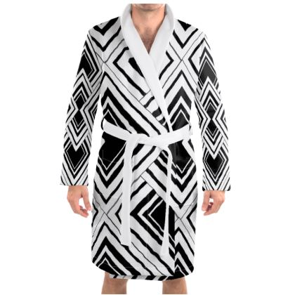 Dressing Gown Black And White