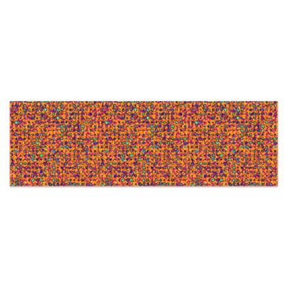 "Vibrant Orange, Turquoise and Magenta Jungle Sarong  Plus Half - 76'x24"" (193cmx60cm)"