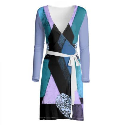 Shimering Heart Wrap Dress Survivor 1 ©