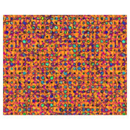 A Vibrant Orange, Turquoise and Magenta Jungle Leaves Kimono/Robe