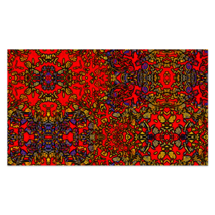 """Rich Red, Yellow and Blue Floral Sarong Plus Long - 76'x44"""" (193cmx110cm)"""