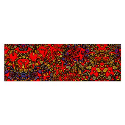 """Rich Red, Yellow and Blue Floral Sarong Plus Half - 76'x24"""" (193cmx60cm)"""
