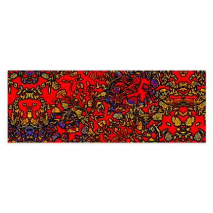 """Rich Red, Yellow and Blue Floral Sarong Classic Half - 66'x24"""" (167cmx60cm)"""