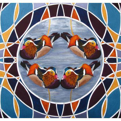 Mandarin Duck Design Cushion