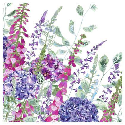 Summer Rhapsody Luxury Cushion (With Lavender Back)