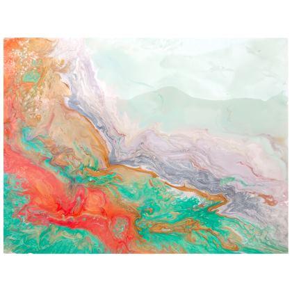 Kiss and fly abstract handbag