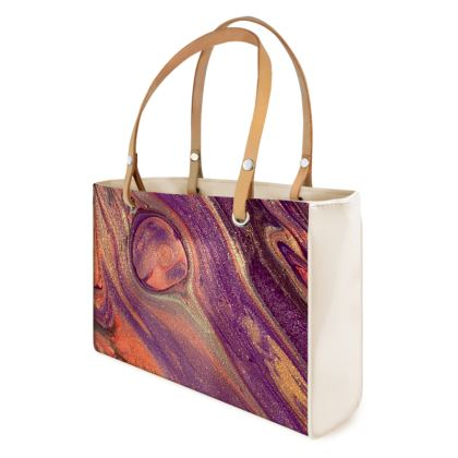 Feather light abstract handbag